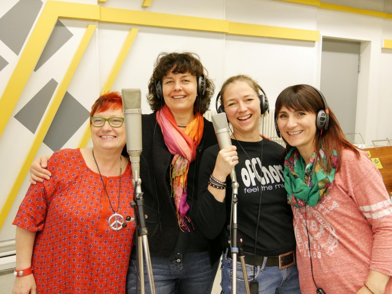 Birgit, Ulrike, Saskia und Vali